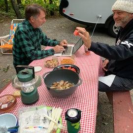 Dinner at Campsite