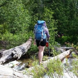 log jam creek crossing