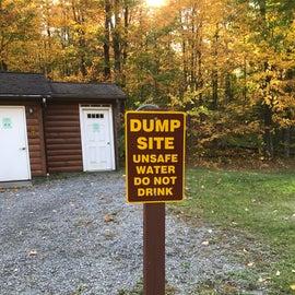 RV dump access