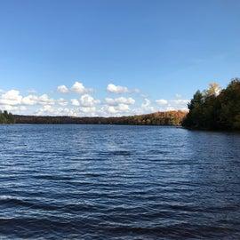 Soft Maple Reservoir as seen from the beach