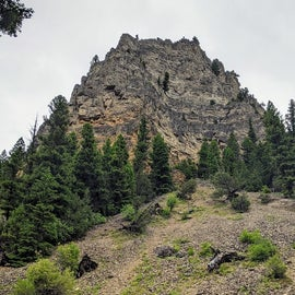 Spire Rock, the campground's namesake.