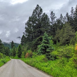 The little road that does a loop through the campground. Really beautiful area, but be ready for weather.