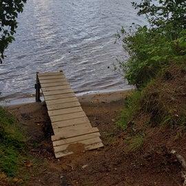 A previous camper had built a dock