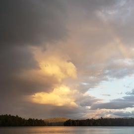 Rainbow across the pond Fish Creek Pond Site 106