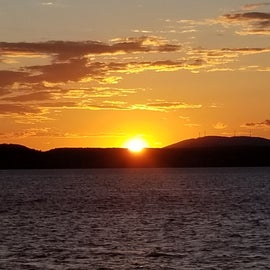 Sun rise over Georgia Mountain