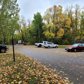 Parking area across from site 126