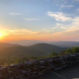 Beautiful sunrise at an overlook