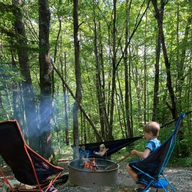 Chillin around the camp fire