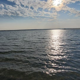 Beautiful view of Lake McConaughey