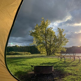 View from my campsite after a small rainstorm