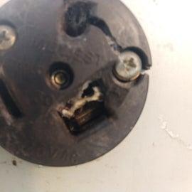 Broken, melted 30A outlet