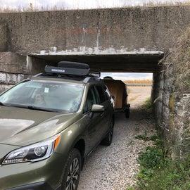 Google took us under this low bridge but we later found other ways around it