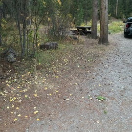 Nicely spread out camping spots