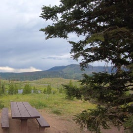 Shepherd's Rim Site #8.  Looking over damage from the Big Fish Fire which nearly destroyed the campgrounds in 2002.