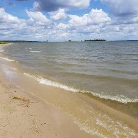 Lakeside at Yaupon area.  Nice beach-like feel to the lake