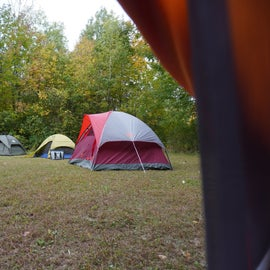 We had six total tents, but there was ample room for more.