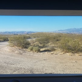 View from our RV front windshield
