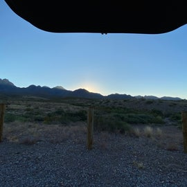 View from car when we woke up!