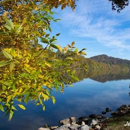 Fall reflection on Burnsville Lake