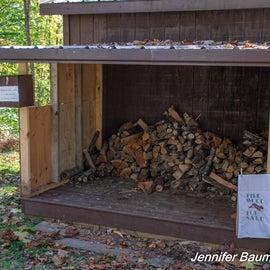 Firewood fundraiser $5 for 10-sticks.