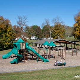There are multiple playgrounds, so very kid-friendly.