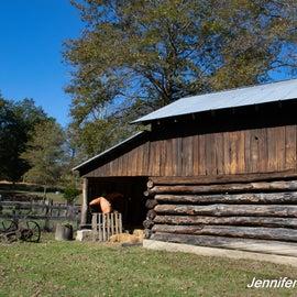 Historic barn in the Bulltown Historic Area