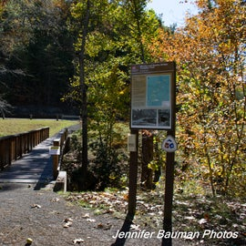 Entrance to the Weston and Gauley Bridge Turnpike Trail
