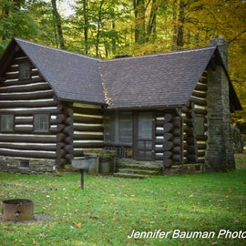 One of six rustic CCC-built cabins