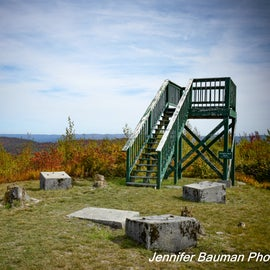 Viewing platform at the location of a former fire tower