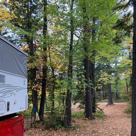 Trail to town can be accessed from the campsite!