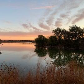 Morning looking at the lake