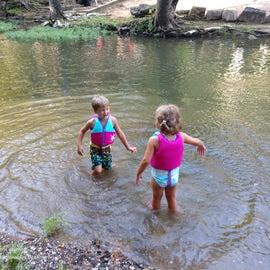 Twins in the creek