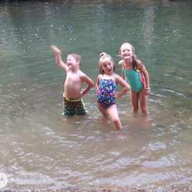 First time in the creek at Tannehill