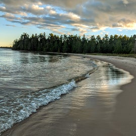Gorgeous beach on Lake Huron, just a couple hundred yards from the campground.