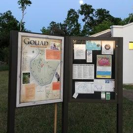 Information board near toilets & showers