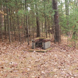This was a random firepit closer to the main trail, near the trail heading back to Site 2