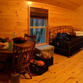 $30/night for this heated cabin.