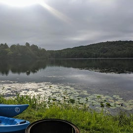 The morning view from my campsite.