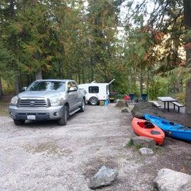 Roomy campsite