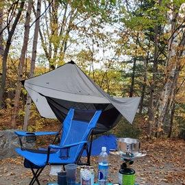 Love hammock camping