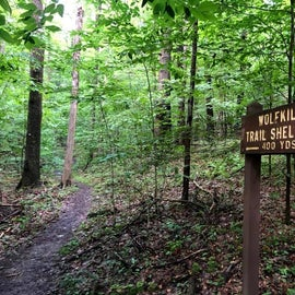 Hiking Trail to the shelters from Oil Creek Trail