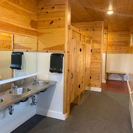 2 shared bath house for bunkhouse guests - one hillside and another riverfront