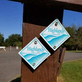The Highlands trail runs through the campground and is beautiful.
