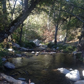 Deer Creek, on the southern edge of the campground, autumn