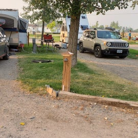 Original site on B loop. We're on the right. Notice how close the firepit was to the neighbor's car.