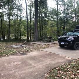 Car camping in spot 36, see the lake in the back