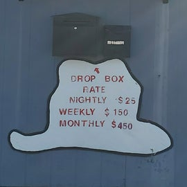 Drop box by bathroom and laundry