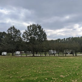 View of the campground from the side.