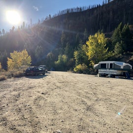 Spillway camping area