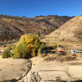 Evans Creek in fall/low water